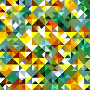 Seamless Pattern Of Geometric Shapes by Login