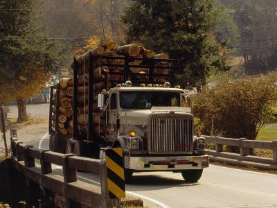 Logs are Hauled Out of Jefferson National Forest-Raymond Gehman-Photographic Print