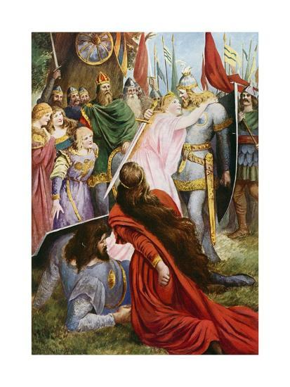 Lohengrin, Act I Scene III-Fred Leeke-Giclee Print