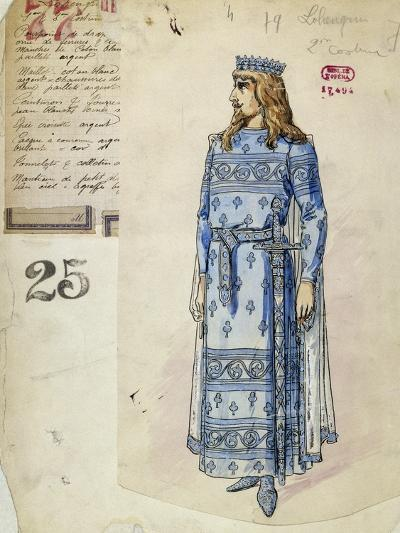 Lohengrin in Wedding Clothes Sketch of Costume for Lohengrin--Giclee Print