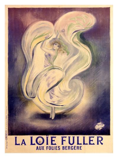 Loie Fuller Folies Bergere- Bac (Ferdinand Sigismond Bach)-Giclee Print