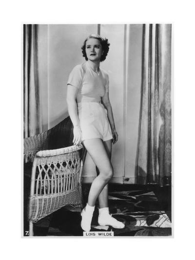 Lois Wilde, American Actress, C1938--Giclee Print