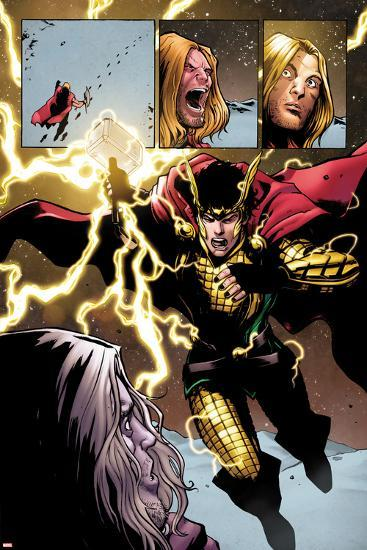 Loki: Agent of Axis No. 9 Cover, Featuring: Thor, Loki-Lee Garbett-Art Print