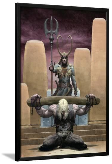 Loki No.1 Cover: Thor and Loki--Lamina Framed Poster