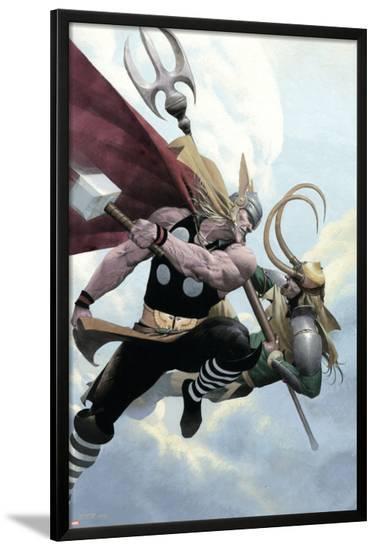 Loki No.2 Cover: Thor and Loki--Lamina Framed Poster
