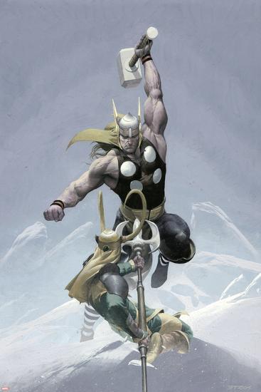 Loki No.3 Cover: Thor and Loki--Art Print