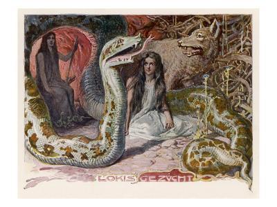 Loki, the Trickster, at the Feast of Aegir the Sea-God--Giclee Print