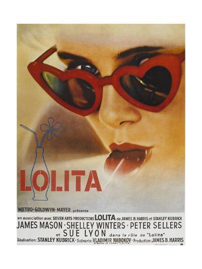 Lolita, Sue Lyon, French Poster Art, 1962--Giclee Print
