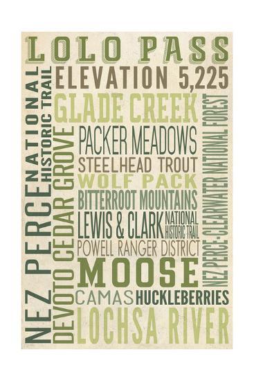 Lolo Pass, Idaho-Lantern Press-Art Print