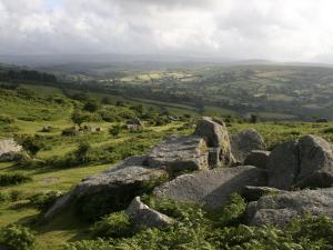 Dartmoor, View Southeast from Bonehill Rocks, Devon, England, United Kingdom, Europe by Lomax David