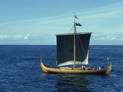 Replica of the Gokstad Viking Ship, Norway, Scandinavia, Europe