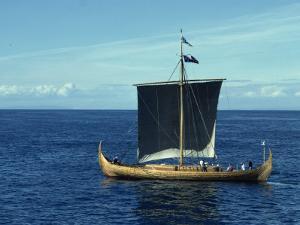 Replica of the Gokstad Viking Ship, Norway, Scandinavia, Europe by Lomax David