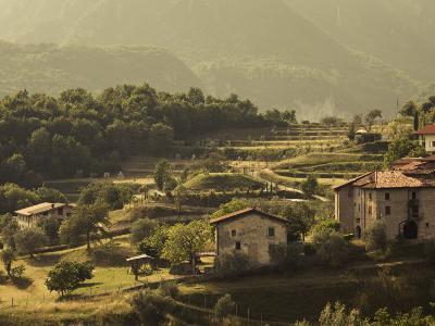 Lombardy, Lake District, Lake Garda, Tremosine Plateau, Mountain Landscape by Cadignano, Italy-Walter Bibikow-Photographic Print