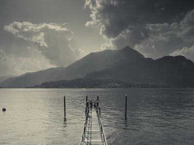 Lombardy, Lakes Region, Lake Como, Bellagio, Grand Hotel Villa Serbelloni, Lakefront, Italy-Walter Bibikow-Photographic Print