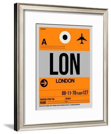 LON London Luggage Tag 1-NaxArt-Framed Art Print