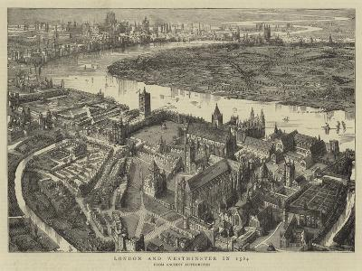 London and Westminster in 1584--Giclee Print