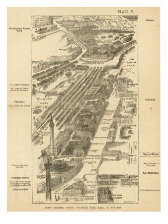 London Birdseye--Giclee Print