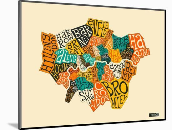 London Boroughs-Jazzberry Blue-Mounted Art Print