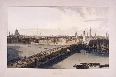 London Bridge, 1804-William Daniell-Giclee Print
