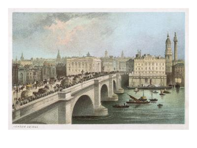 London Bridge 1850--Giclee Print