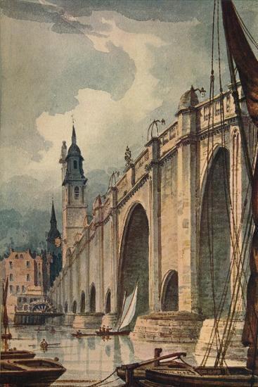 'London Bridge', 1893, (c1915)-Unknown-Giclee Print