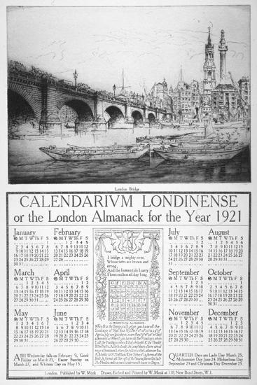 London Bridge, 1921-William Monk-Giclee Print