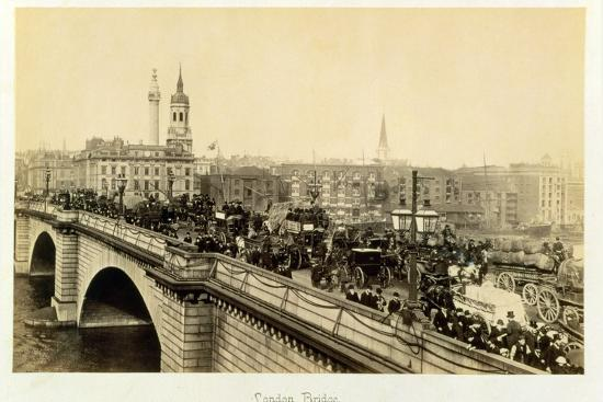London Bridge, c1880-Unknown-Photographic Print