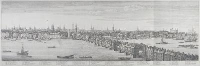 London Bridge, London, 1749-Nathaniel Buck-Giclee Print