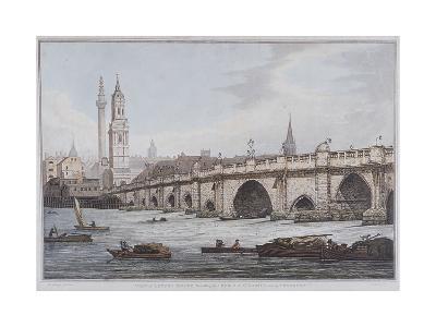 London Bridge, London, 1790-Joseph Constantine Stadler-Giclee Print