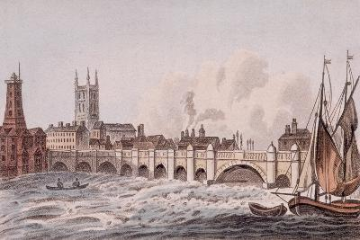 London Bridge, London, 1823-John Hassall-Giclee Print