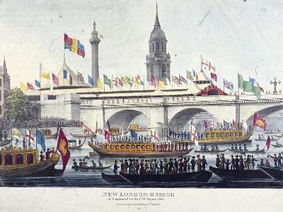 London Bridge, London, 1831-Henry Matthews-Giclee Print
