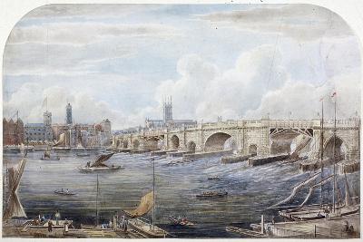 London Bridge, London, 1831-G Yates-Giclee Print