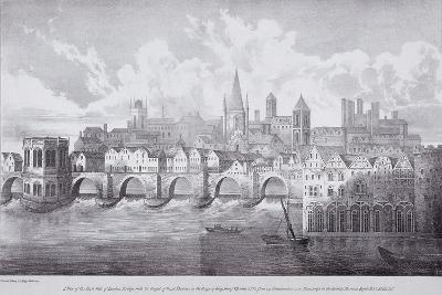 London Bridge, London, C1830-R Martin-Giclee Print