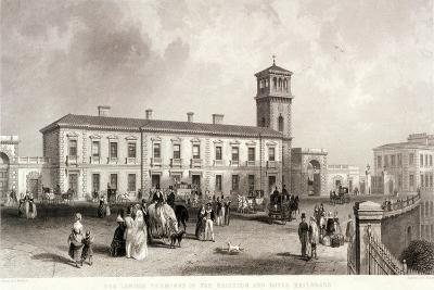 London Bridge Station, Bermondsey, London, 1845-Henry Adlard-Giclee Print