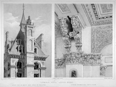 London Bridge Station, Bermondsey, London, 1860-Robert Dudley-Giclee Print
