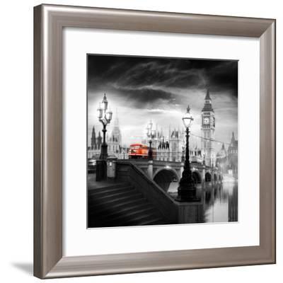 London Bus III-Jurek Nems-Framed Art Print