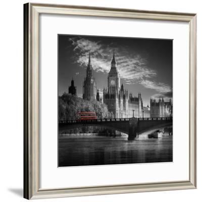 London Bus IV-Jurek Nems-Framed Premium Giclee Print