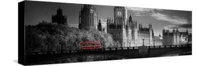 London Bus V- Jurek Nems-Stretched Canvas Print