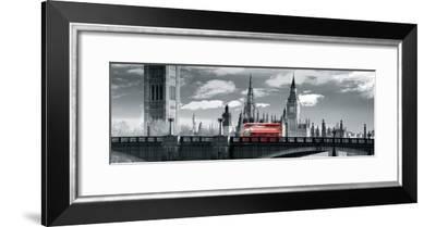London Bus VI-Jurek Nems-Framed Giclee Print