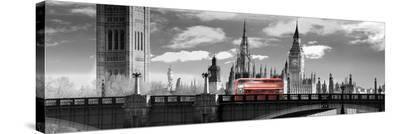 London Bus VI- Jurek Nems-Stretched Canvas Print