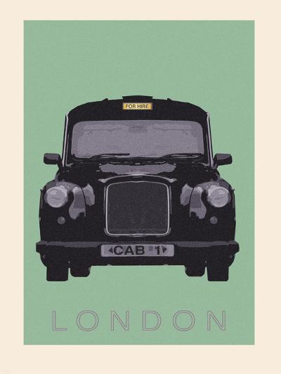 London - Cab I-Ben James-Premium Giclee Print