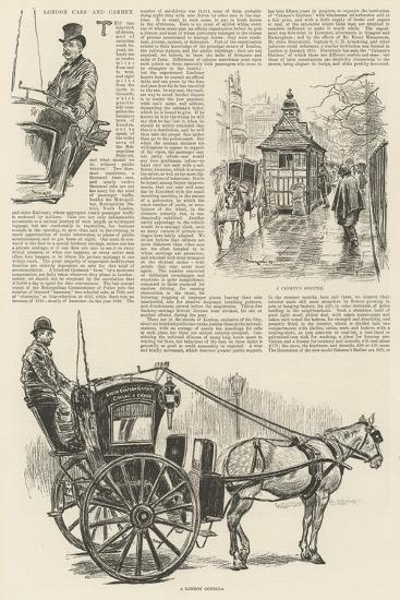 London Cabs and Cabmen-William Douglas Almond-Giclee Print