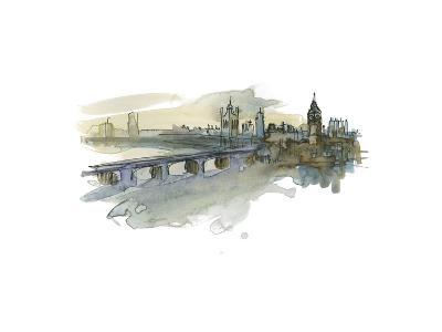 London Cityscape-Brenna Harvey-Premium Giclee Print