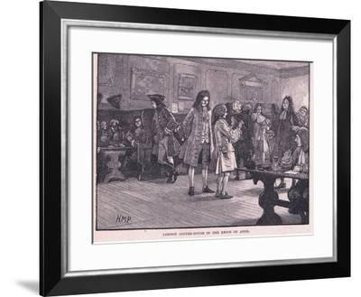 London Coffee-House in the Reign of Anne Circa Ad 1710-Henry Marriott Paget-Framed Giclee Print