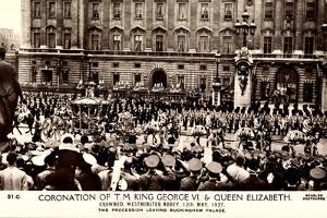 London, Coronation, King George VI, Queen Elizabeth