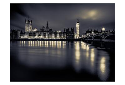 London Duotone Parliament-Vladimir Kostka-Art Print