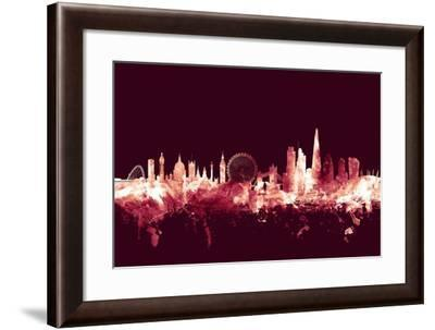 London England Skyline-Michael Tompsett-Framed Art Print