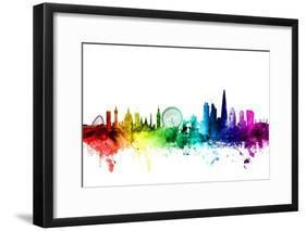 London England Skyline-Michael Tompsett-Framed Photographic Print