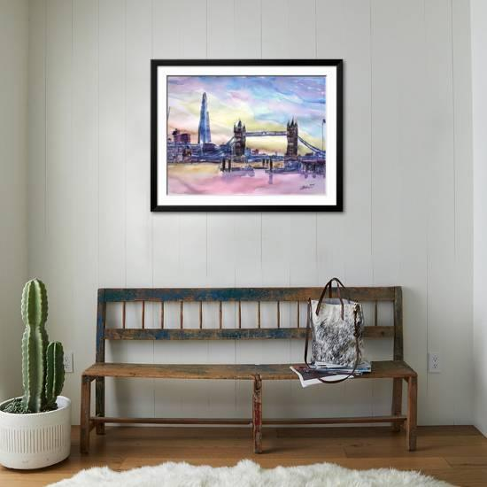London England The Shard And Tower Bridge 2 Art Print M Bleichner Art Com