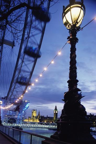 London Eye at Night-Design Pics Inc-Photographic Print